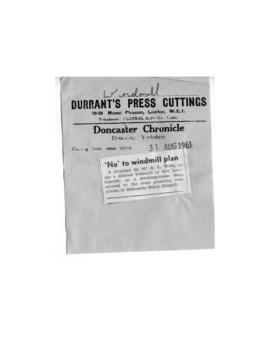 """ 'No' to windmill plan"""