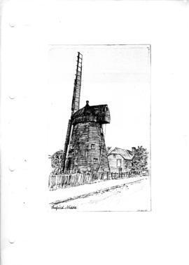 Smock mill at Enfield, Middx