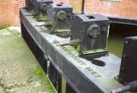 Whitmore and Sons sluices close-up, Clover's Mill, Dedham