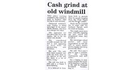 """Cash grind at old windmill"""