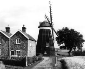 Close view with house, Lower Mill, Dalham