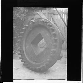 A trundle gear from Old Hall Mill, Stokesby, Norfolk. This may be the head wheel.