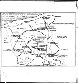 Map of windmill sites in Flanders