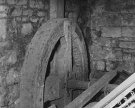 Timber wheel on horizontal shaft, Acomb Mill, Acomb
