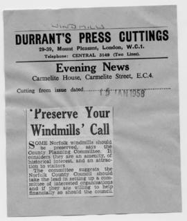 """ 'Preserve your Windmills' call"""
