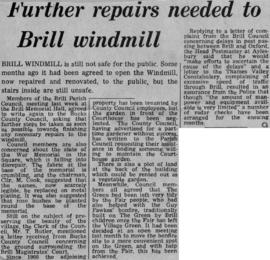 """Further repairs needed to Brill windmill"""