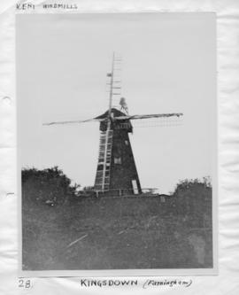 Pair common sails (furled) and pair patent, smock mill, West Kingsdown