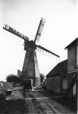 Crampton's Mill, Sissinghurst, Cranbrook, with buildings and motor car