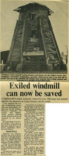 """Exiled windmill can now be saved"""