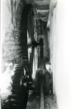 Photograph of gearing, Vuillafans watermill, France