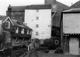Upstream view, East Hill Mill, Ashford