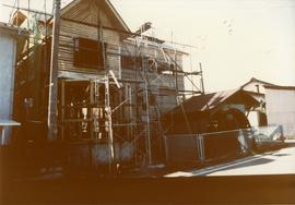 Photograph of a Japanese rice mill