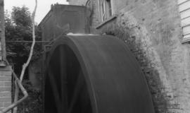 Overshot waterwheel, Coltsford Mill, Hurst Green