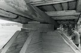Sheers, collar and sub-structure of a toe mill in Evijärvi, South Bothnia