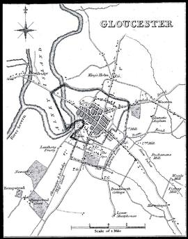 Map of mills of Gloucester