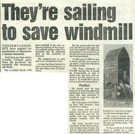 """They're sailing to save windmill"""