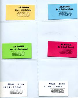A MacDonald and Son 6 small labels