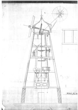 Cross section of smock mill