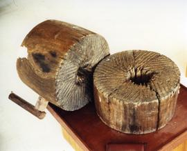 Photograph of a wooden quern, Philippines