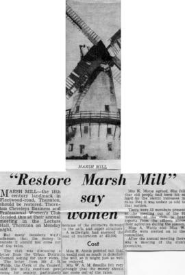 """'Restore Marsh Mill' say women"""