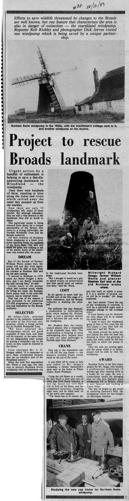 """Project to rescue Broads landmark"""