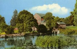 View across the river, watermill, Sandy