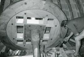 Brakewheel Woodwork Preparation, tower mill, Thelnetham