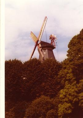 Restored smock mill at Bremen, West Germany