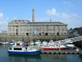 Mills and bakery in the Royal William Yard, Plymouth