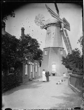 Chesterton Mill and Edwin and Maud French with Major