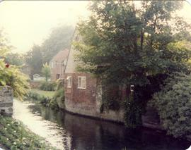 View from river, Cock Mill, Canterbury