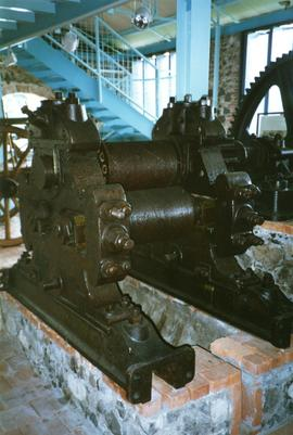 Photograph of roller mill machinery, St James' Distillery, Martinique