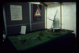 Model post mill in exhibition