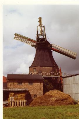 Preserved smock mill near Gudendorf, West Germany