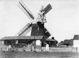 Tower mill, Bardwell, with buildings