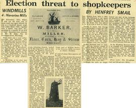 """Election threat to shopkeepers"""