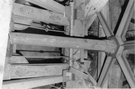 Windshaft showing brake wheel hub, Upper Mill, Eastry