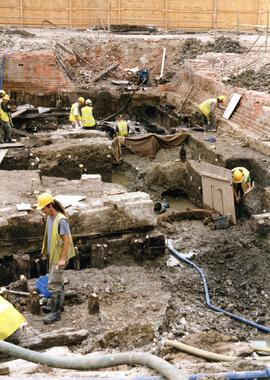 Excavation of St. Giles Mill, Reading by Oxford Archaeology