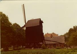 Open-trestle post mill in open-air museum at Haderslev, Denmark