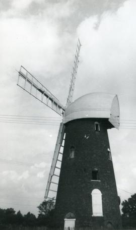 Tower mill, Stock, with prominent cap