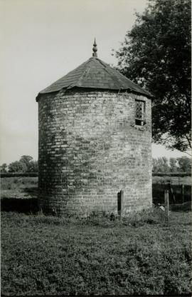 Base with hexagonal slated roof and filial, Balsam Fields Mill, Terrington St Clement