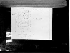 Photograph of scale drawing of cap frame, Hook Mill, East Hampton, Long Island