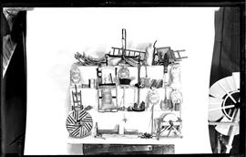 H O Clark's model of Sprowston Mill implements and accessories
