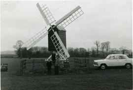 Bloxham Grove Mill, Bloxham, car and people