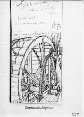 Waterwheel  at Langford's Mill, Herefs. Bk 19 No.8