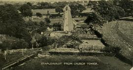 View from church tower, smock mill, Staplehurst