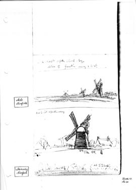 Acle drainage mills, Norfolk.  Bk 12, no 20.
