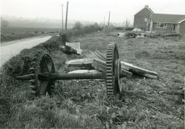 Remains of pair of wheels and millstones, Moreton
