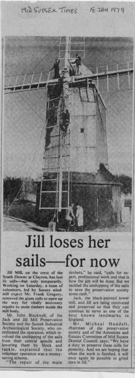 """Jill loses her sails - for now"""