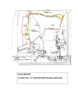 Site plan of Heage Tower mill and new approach road